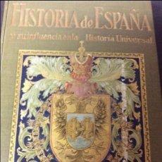 Libros de segunda mano: HISTORIA DE ESPAÑA Y SU INFLUENCIA EN LA HISTORIA UNIVERSAL TOMO CUARTO. Lote 56936743