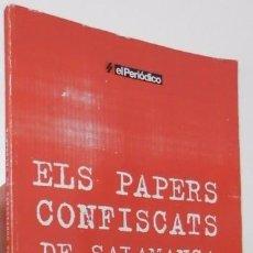 Libros de segunda mano: ELS PAPERS CONFISCATS DE SALAMANCA. Lote 57056507