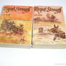 Libros de segunda mano: MINI LIBRO MIGUEL STROGOFF ENCICLOPEDIA PULGA JULIO VERNE Nº 32-34 - G.P. BARCELONA. Lote 57070316