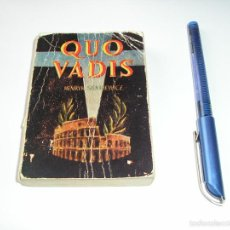 Libros de segunda mano: MINI LIBRO QUO VADIS ENCICLOPEDIA PULGA POR HENRY SHENKIEWICE Nº 10 - EDICI G.P. BARCELONA. Lote 57070479