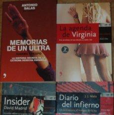 Libros de segunda mano: LA AGENDA DE VIRGINIA, INSIDER, DIARIO DEL INFIERNO Y MEMORIAS DE UN ULTRA.SERIE CONFIDENCIAL. Lote 57089023