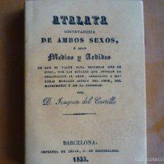 Libros de segunda mano: ATALAYA. OBSERVATORIA DE AMBOS SEXOS, Ó SEAN MEDIOS Y ARDIDES. CASTILLO, JOAQUIN DEL. Lote 57098658