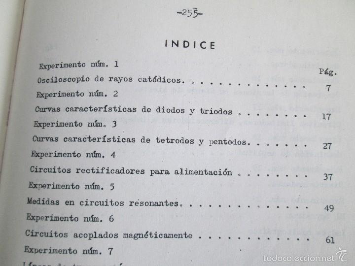Libros de segunda mano: ELECTRONICA FUNDAMENTAL. MANUAL DE LABORATORIO POR E. ANDRES PUENTE. EDICION LITOPRINT.1962 - Foto 21 - 57125044