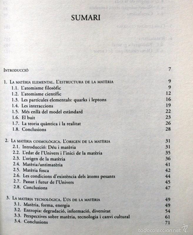 Libros de segunda mano: MATÈRIA I MATERIALISME - David JOU I MIRABENT - Foto 2 - 57145600