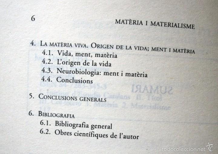 Libros de segunda mano: MATÈRIA I MATERIALISME - David JOU I MIRABENT - Foto 3 - 57145600