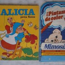 Libros de segunda mano: CUADERNO PARA COLOREAR ALICIA PINTA FLORES Y PINTAME DE COLORES NUEVOS SIN PINTAR. Lote 57163171