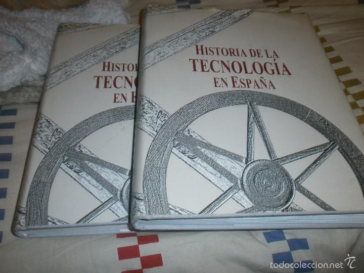HISTORIA DE LA TECNOLOGIA EN ESPAÑA 2 TOMOS GRAN FORMATO 30 X 25 CM. VALATENEA 2001 PRIMERA EDICIÓN (Libros de Segunda Mano - Ciencias, Manuales y Oficios - Otros)