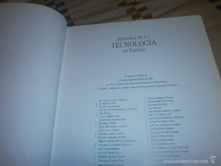 Libros de segunda mano: Historia de la tecnologia en españa 2 tomos gran formato 30 x 25 cm. Valatenea 2001 primera edición - Foto 2 - 57198273