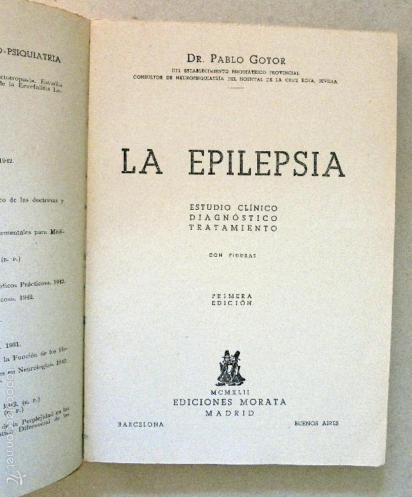 Libros de segunda mano: EPILEPSIA,Estudio Clínico,Diagnostico,Tratamiento de Pablo Gotor - Foto 2 - 57434395