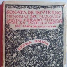 Libros de segunda mano: SONATA DE INVIERNO-MEMORIAS DEL MARQUES DE BRADOMIN-OPERA OMNIA-1941. Lote 57441877