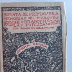 Libros de segunda mano: SONATA DE PRIMAVERA--MEMORIAS DEL MARQUES DE BRADOMIN--1942-. Lote 57442066