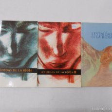 Libros de segunda mano: LEYENDAS DE LA RIOJA. 3 TOMOS. COMPLETO. CARIÑANOS, FÉLIX / ESQUIDE, DIEGO. ALBELDA, JAIME. TDKLT3. Lote 57451521