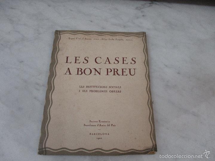 LES CASES A BON PREU - LES INSTITUCIONS SOCIALS I ELS PROBLEMES OBRES - EUGENI GIRALT - 1920 (Libros de Segunda Mano - Ciencias, Manuales y Oficios - Otros)