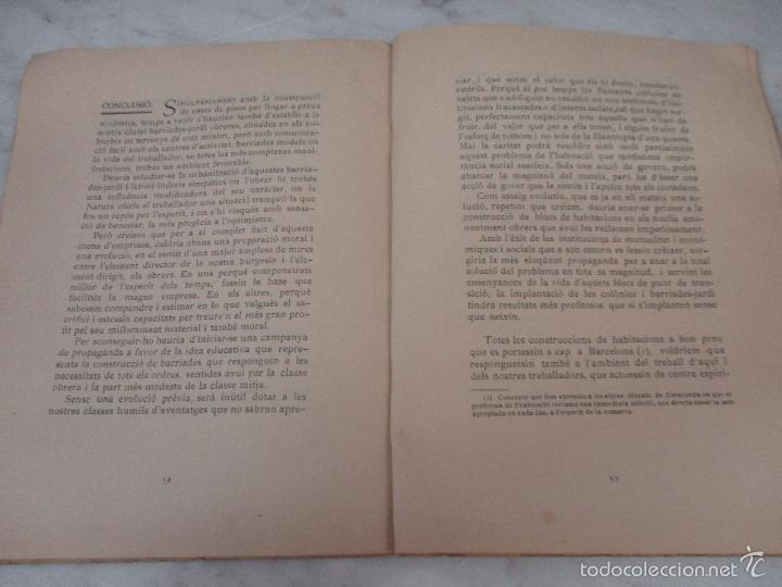 Libros de segunda mano: Les Cases a Bon Preu - Les Institucions Socials i els Problemes Obres - Eugeni Giralt - 1920 - Foto 9 - 57482371