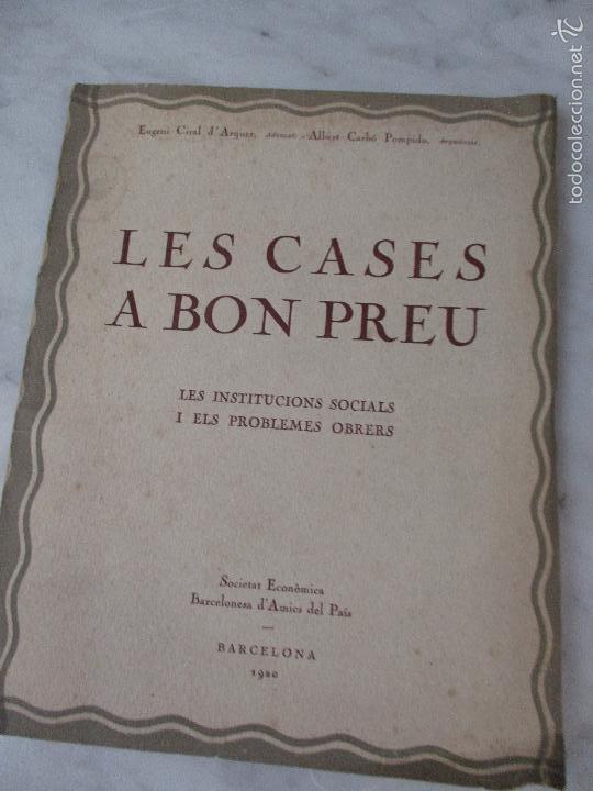 Libros de segunda mano: Les Cases a Bon Preu - Les Institucions Socials i els Problemes Obres - Eugeni Giralt - 1920 - Foto 12 - 57482371