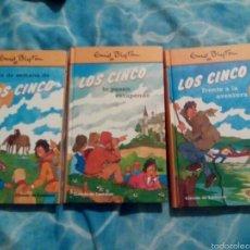 Libros de segunda mano: LOS CINCO ENID BLYTON TRES LIBROS. Lote 57535917