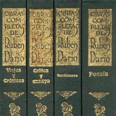 Libros de segunda mano: OBRAS COMPLETAS DE RUBEN DARIO. 4 TOMOS. L-1144. Lote 57657071