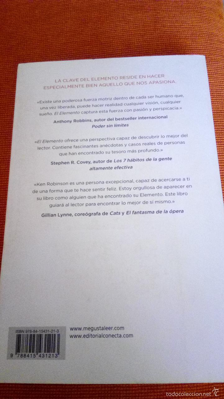 Libros de segunda mano: EL ELEMENTO, DESCUBRIR TU PASIÓN LO CAMBIA TODO -  KEN