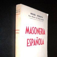 Libros de segunda mano: MASONERIA ESPAÑOLA / MIGUEL MORAYTA. Lote 57708430