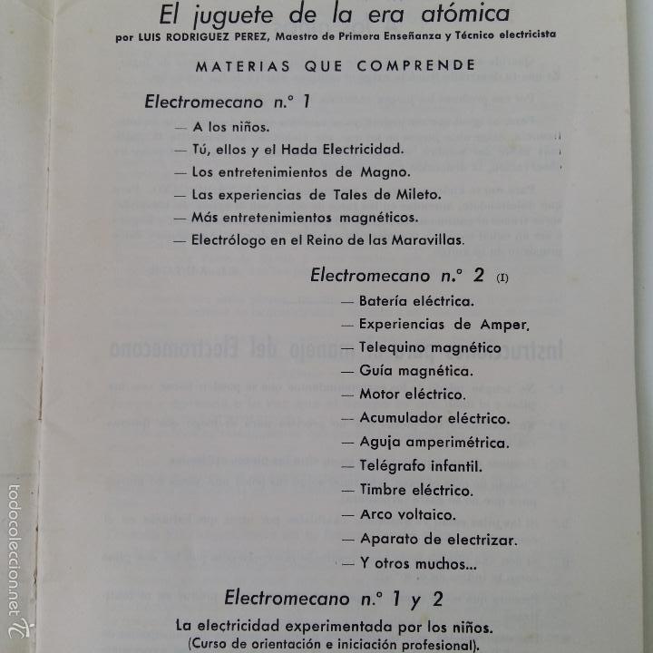 Libros de segunda mano: MANUAL DE ELECTROMECANO EL JUGUETE DE LA ERA ATOMICA - Foto 3 - 57714034