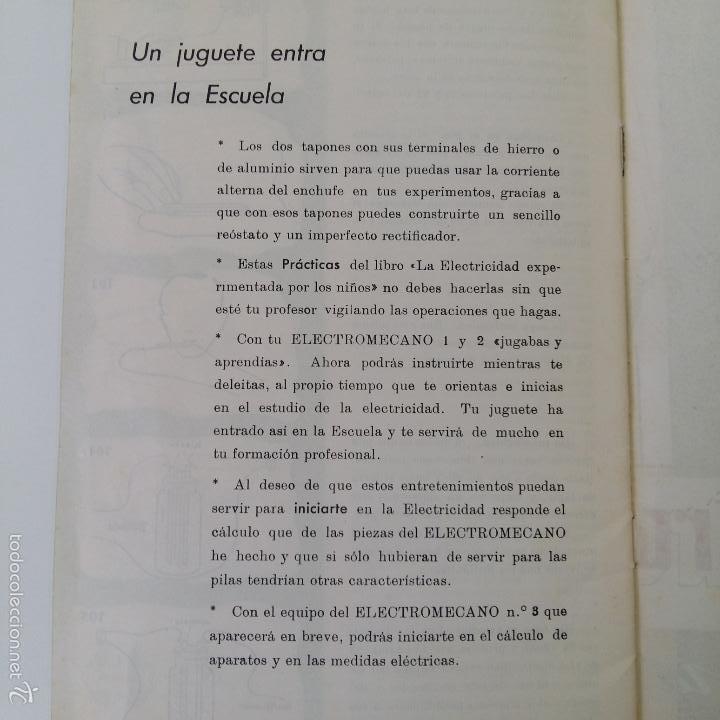 Libros de segunda mano: MANUAL DE ELECTROMECANO EL JUGUETE DE LA ERA ATOMICA - Foto 6 - 57714034