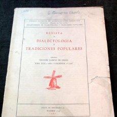 Libros de segunda mano: TRADICIONES POPULARES - CASA REDONDA - LAS AGUILAS - FOTOGRAFÍAS - 1967 - GARCIA DE DIEGO, VICENTE . Lote 57731595