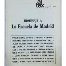 Libros de segunda mano: HOMENAJE A LA ESCUELA DE MADRID. Lote 57732527
