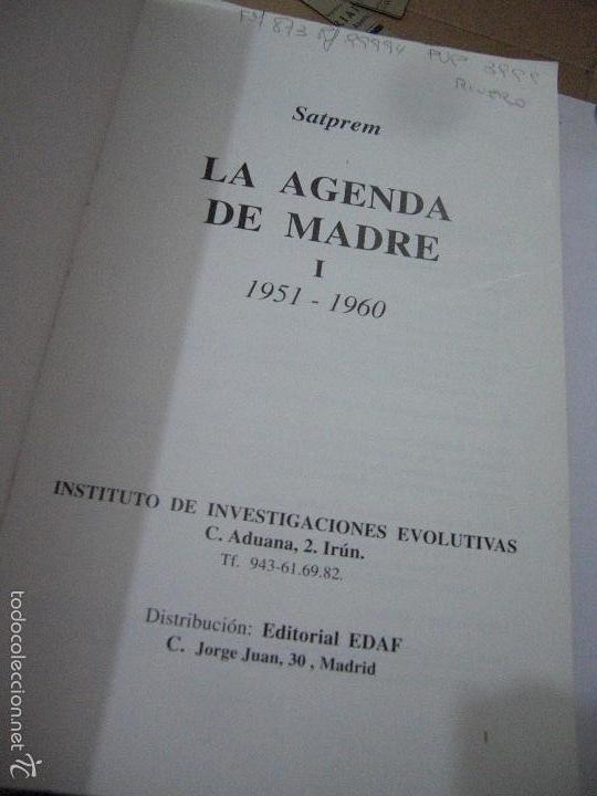Libros de segunda mano: La Agenda de Madre. Satprem. Volúmen 1º. - Foto 7 - 57799533