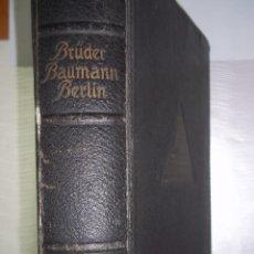 Libros de segunda mano: BRUDER BAUMANN BERLIN.CATALOGO MAQUINA ESCRIBIR UNDERWOOD,KLEIN,SMITH,ROYAL.REMINGTON.OLYMPIA.ETC. Lote 57820870