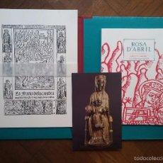 Libros de segunda mano: ROSA D'ABRIL PUBLICACIONS DE L'ABADIA DE MONTSERRAT JOSEP DE C. LAPLANA 2015. Lote 57832426