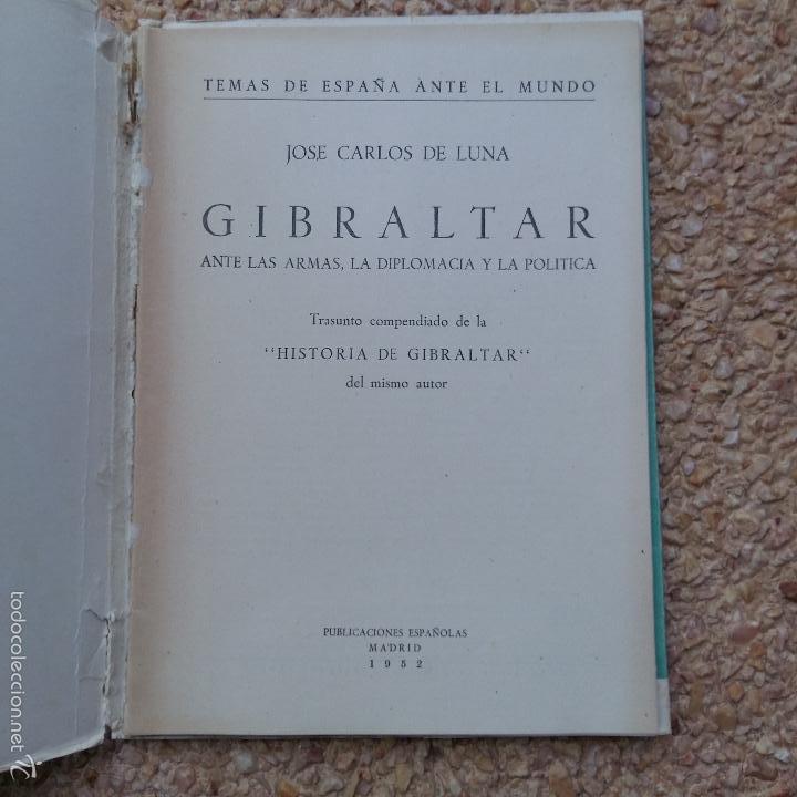 Libros de segunda mano: GIBRALTAR. TEMAS DE ESPAÑA ANTE EL MUNDO. JOSE CARLOS DE LUNA, 1952 - Foto 2 - 57833104