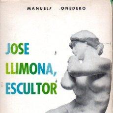 Libros de segunda mano: MANUELA MONEDERO PUIG : JOSÉ LLIMONA, ESCULTOR (EDITORA NACIONAL, 1966) AUTÓGRAFO DE MARÍA LLIMONA. Lote 57871772