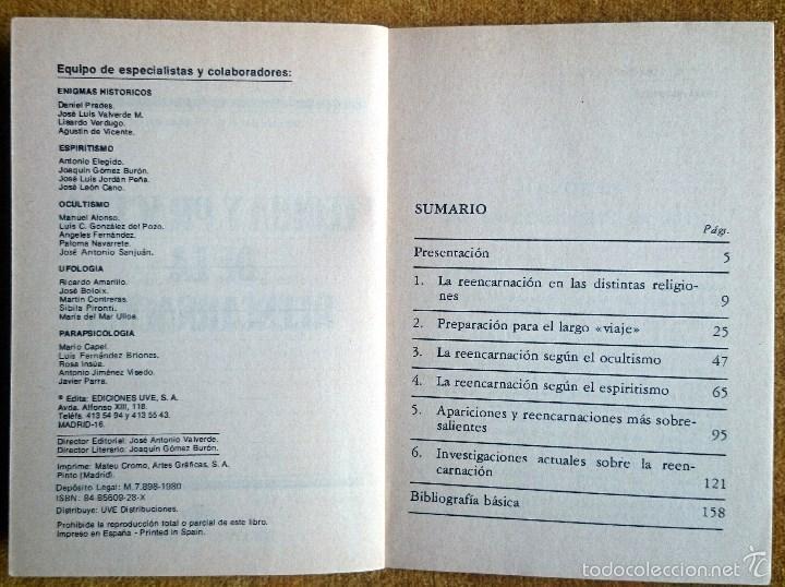 Libros de segunda mano: Teoría y práctica de la reencarnación. Biblioteca Básica de los Temas Ocultos vol. 14. Uve, 1980. - Foto 2 - 58178425