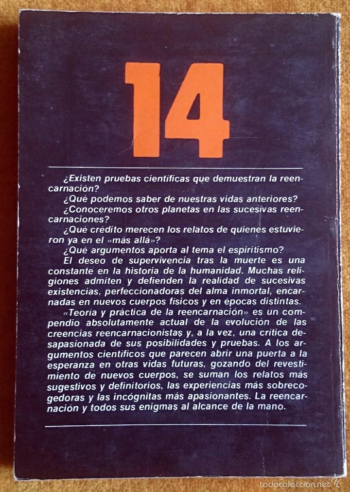 Libros de segunda mano: Teoría y práctica de la reencarnación. Biblioteca Básica de los Temas Ocultos vol. 14. Uve, 1980. - Foto 3 - 58178425