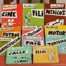 Libros de segunda mano: 7835 - MUNTAÑOLA. 11 TOMOS(VER DESCRIP). EDITORIAL PLANCTON. 1972-1973.. Lote 58201542