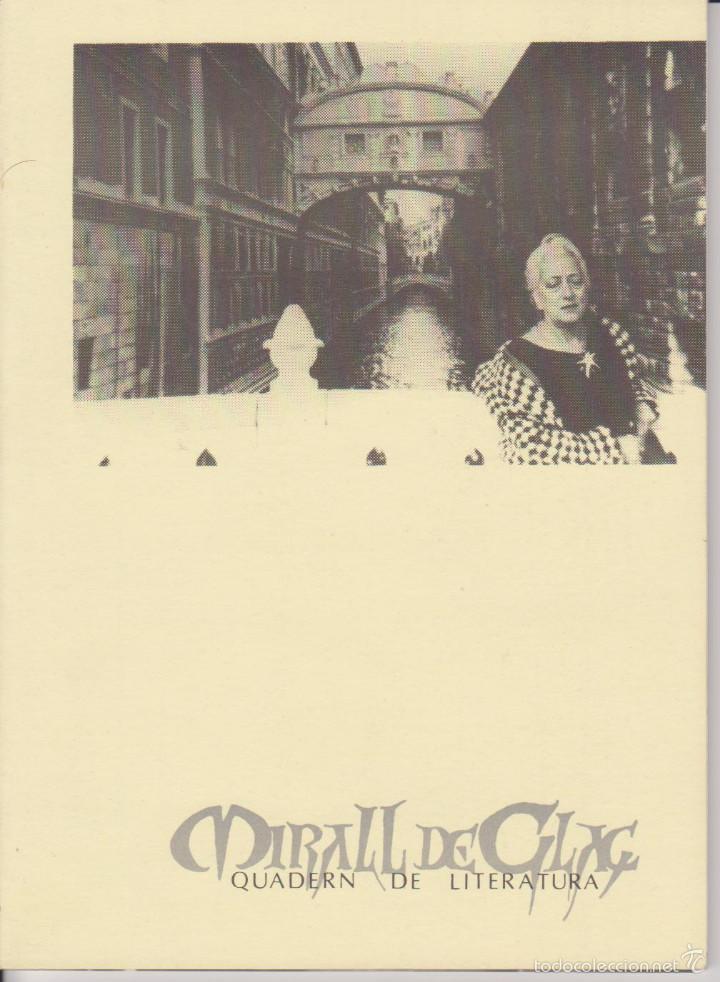 MIRALL DE GLAÇ - QUADERN ESTACIONAL DE LITERATURA - TERRASSA - PRIMAVERA VERANO 1982 (Libros de Segunda Mano (posteriores a 1936) - Literatura - Otros)