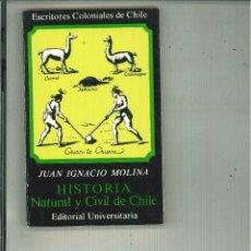 Libros de segunda mano - HISTORIA NATURAL Y CIVIL DE CHILE. Juan Ignacio Molina - 69940687