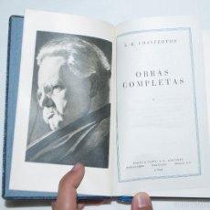 Libros de segunda mano: OBRAS COMPLETAS G. K. CHESTERTON // TOMO I, 1961, PLAZA & JANÉS. Lote 58345331