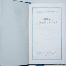Libros de segunda mano: OBRAS COMPLETAS M. VANDER MEERSCH // TOMO II, 1960, PLAZA & JANÉS. Lote 58345395