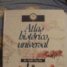 Libros de segunda mano: ATLAS HISTORICO UNIVERSAL EL PAIS AGUILAR COMPLETO - SOLO FALTA ENCUADERNARLO --REFCAPLEENHAULT. Lote 58376459