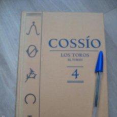 Libros de segunda mano: COSSIO - LOS TOROS - EL TOREO - VOLUMEN 4 ESPASA 2007. Lote 58377457