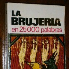 Libros de segunda mano: LA BRUJERÍA EN 25000 PALABRAS POR IGNACIO ROGER DE ED. BRUGUERA EN BARCELONA 1974 1ª EDICIÓN. Lote 58402002