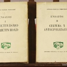 Libros de segunda mano: 7862 - EDITORIAL PEÑISCOLA. 2 TOMOS(VER DESCRIP). ANTONIO PASCUAL FERRANDEZ. 1961.. Lote 58408740