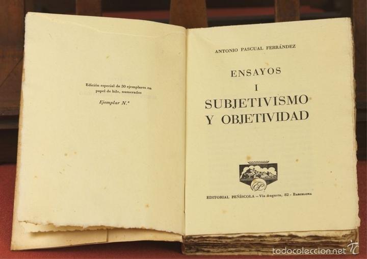Libros de segunda mano: 7862 - EDITORIAL PEÑISCOLA. 2 TOMOS(VER DESCRIP). ANTONIO PASCUAL FERRANDEZ. 1961. - Foto 2 - 58408740
