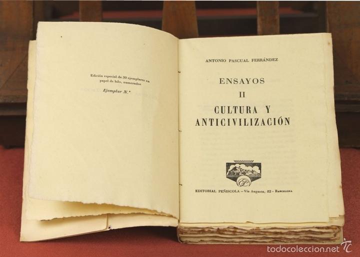 Libros de segunda mano: 7862 - EDITORIAL PEÑISCOLA. 2 TOMOS(VER DESCRIP). ANTONIO PASCUAL FERRANDEZ. 1961. - Foto 5 - 58408740