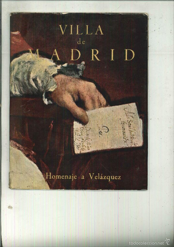 VILLA DE MADRID. HOMENAJE A VELÁZQUEZ (Libros de Segunda Mano - Bellas artes, ocio y coleccionismo - Otros)