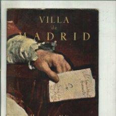 Libros de segunda mano: VILLA DE MADRID. HOMENAJE A VELÁZQUEZ. Lote 180308266
