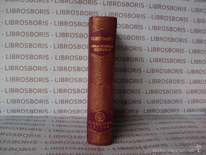 RUBEN DARIO - OBRAS POETICAS COMPLETAS - AGUILAR - COLECCION JOYA. (Libros de Segunda Mano - Bellas artes, ocio y coleccionismo - Otros)