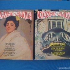 Libros de segunda mano: MODERNISME A CATALUNYA -EDICIÓ EN CATALÀ NOVEMBRE DE 1981 -2 VOLUMS-. Lote 58490417