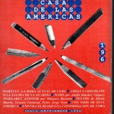 Libros de segunda mano: REVISTA CASA DE LAS AMÉRICAS Nº 196 - JULIO SEPTIEMBRE 1994 . Lote 58595688